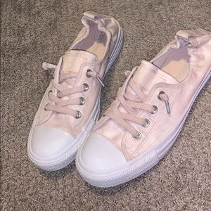 NEW! Converse Shorelines in pink-all leather! 8.5